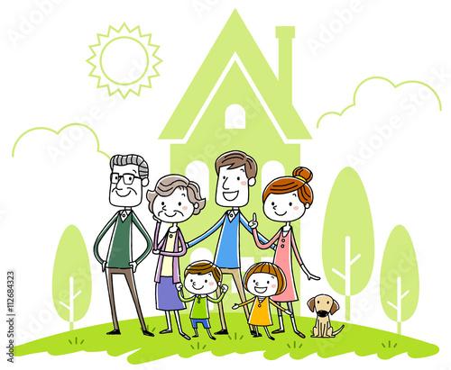 Fotografie, Tablou  イラスト素材:家族と家