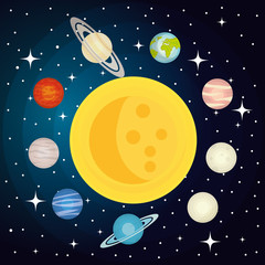 Obraz na Szkle Kosmos the solar system design