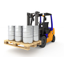 Forklift Isolated.