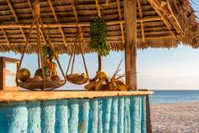 Typical Beach Bar In Zanzibar