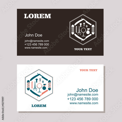 Hair salon barber shop business card design template buy this hair salon barber shop business card design template friedricerecipe Image collections