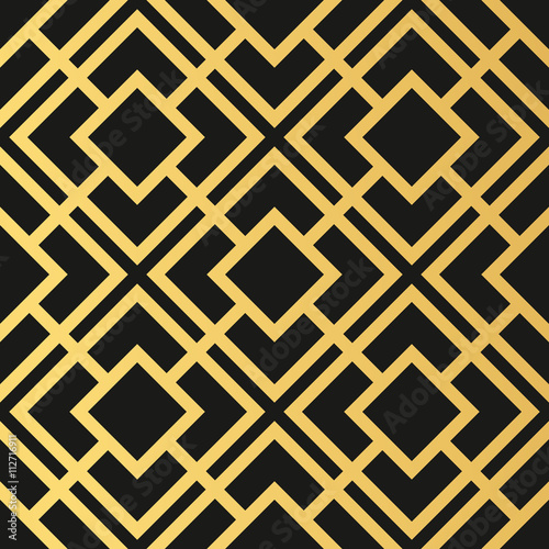 Art Deco seamless vintage wallpaper pattern. Geometric decorativ
