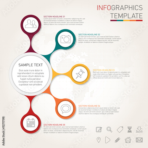 Fotografie, Obraz  Infographics template for your design
