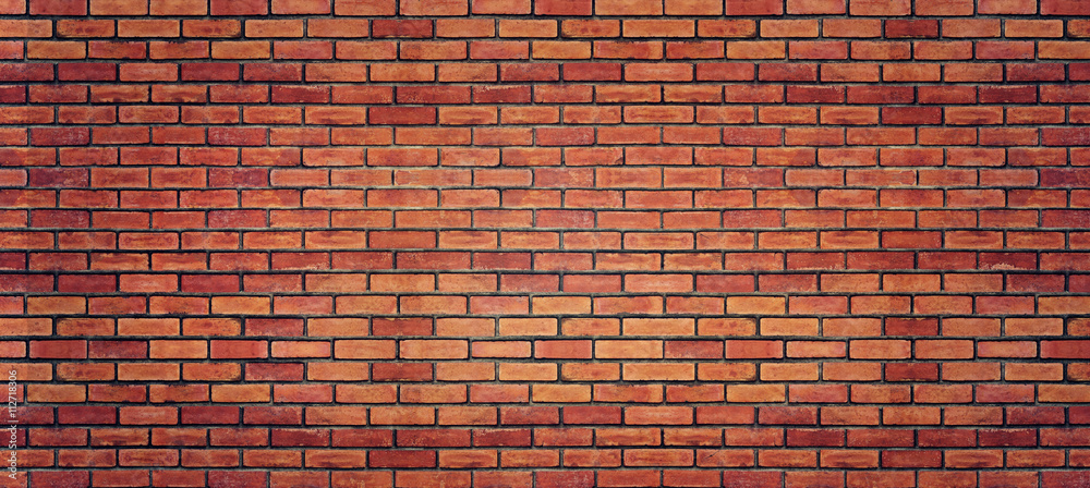 Fototapety, obrazy: Red brick wall texture for background