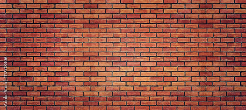 Red brick wall texture for background - 112718306