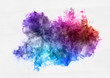 Colorful watercolor paint banner with brushstrokes