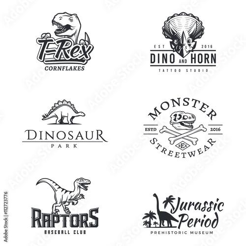Fotografie, Obraz  Dino logo set