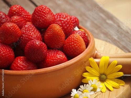 Fotografie, Obraz  świeże truskawki