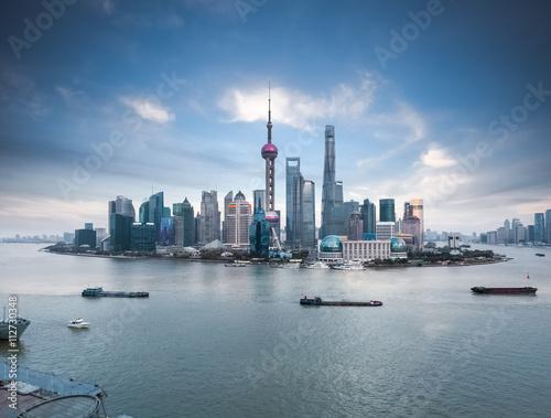 Foto op Aluminium Shanghai beautiful shanghai skyline