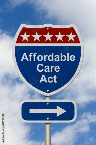 Tablou Canvas Way to get the Affordable Care Act Road Sign