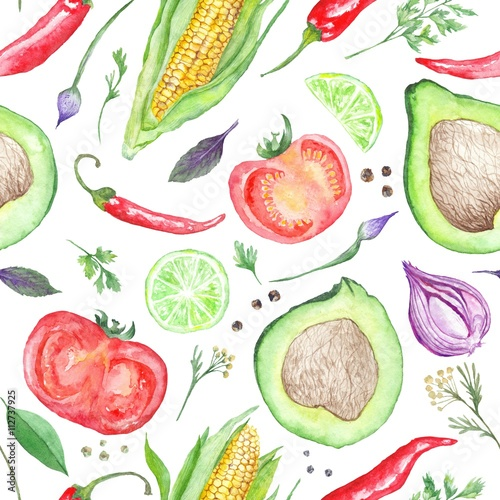 Vegetarian Vegetable Pattern - 112737925