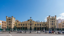 Different Views Of The City Of Valencia, Spain, In This Case A Train Station