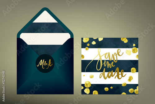 Tony wedding invitation suite stylish cards and envelope vector tony wedding invitation suite stylish cards and envelope vector templates with hand written calligraphy elements stopboris Image collections