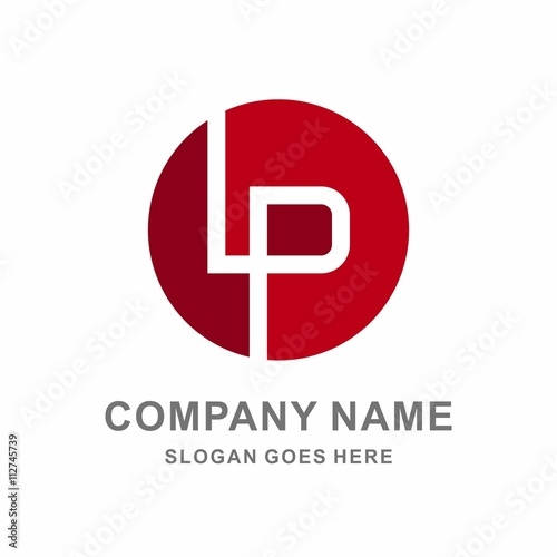 Monogram Letter L P Circle Vector Logo Template Buy This Stock