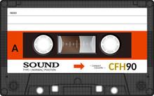 Retro Plastic Audio Cassette, ...