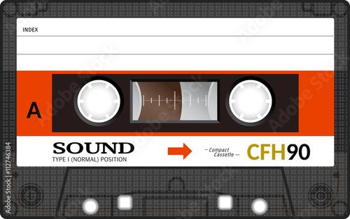 Retro plastic audio cassette, music cassette, cassette tape Fototapet