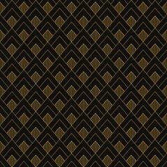 Fototapeta Art Deco seamless vintage wallpaper pattern. Geometric decorativ