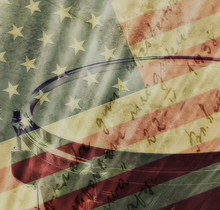 Old Grunge USA Flag With Grung...
