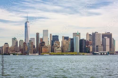 View of Manhattan skyline in NYC