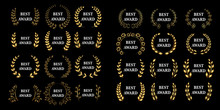 Best Award Mega Set Vector Gol...
