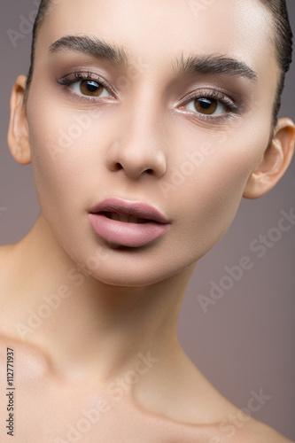 Obraz na plátně  Women's makeup as an art