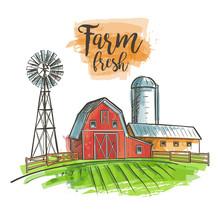 Farm Barn Fence