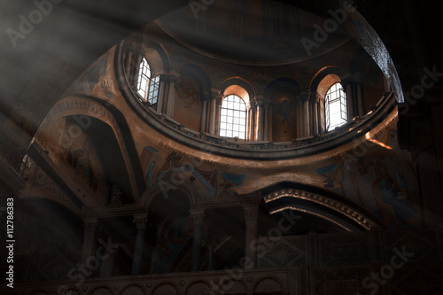 Photo Inside of Church of the Holy Sepulchre in Jerusalem