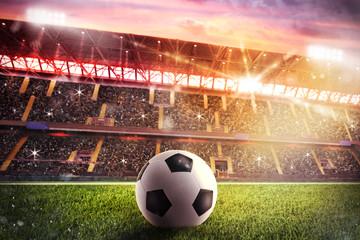 fototapeta piłka  na stadionie