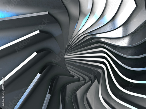 Photo  Abstract 3d rendering of gold surface.3d rendering.