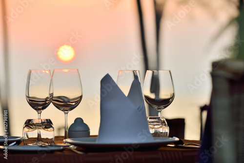 Fotografia romantic dinner setup