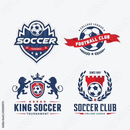 Soccer Club Logofootball Logovector Logo Template Buy This Stock