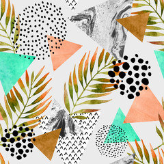 FototapetaAbstract summer geometric seamless pattern