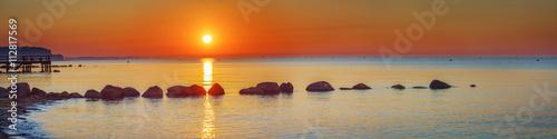 Baltic Sea, Germany, Schleswig-Holstein, Sunrise