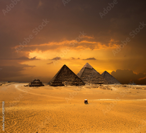 pyramids-with-a-beautiful-sky-of-giza-in-cairo-egypt