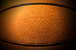 canvas print picture - Close up Old Black and Orange Basketball