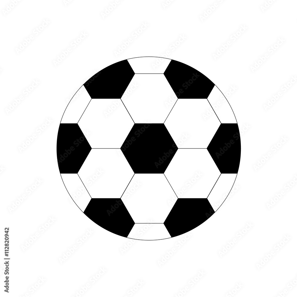 Photo  Soccer ball icon on a white background.