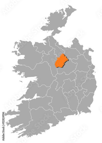 Map Of Ireland Longford.Map Ireland Longford Buy This Stock Vector And Explore Similar