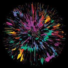 Abstract Color Splash Backgrou...