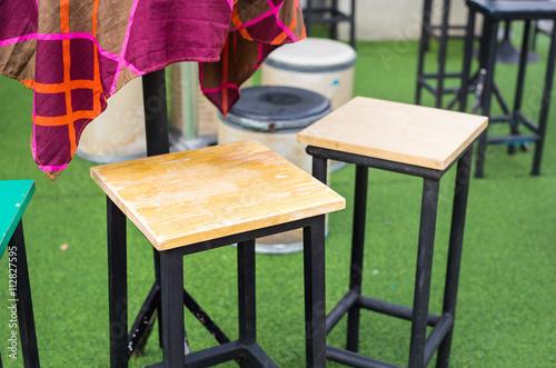 Cafe Interior Bar Chairs Outdoors Kaufen Sie Dieses Foto Und