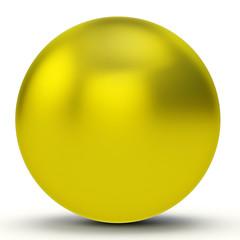3d yellow sphere
