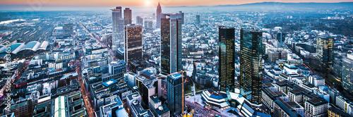 Fototapeta Frankfurt im Sonnenuntergang