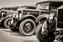 Vintage Cars, Black And White