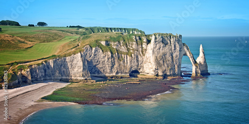 Платно The cliff of Etretat, Normandy, France