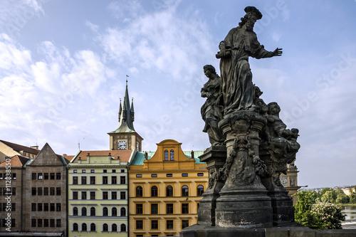 Staande foto Praag Prague cityscape, Charles bridge, Czech Republic
