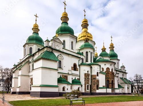 Foto op Plexiglas Kiev Kiev, Ukraine. Saint Sophia Monastery Cathedral, UNESCO