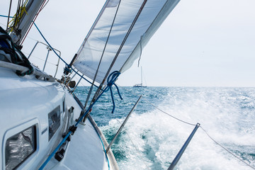 Obraz na Plexi Sailing with wave