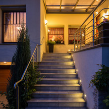 Outside Steps With Lighting