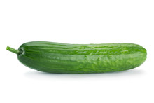 Long Cucumber On White
