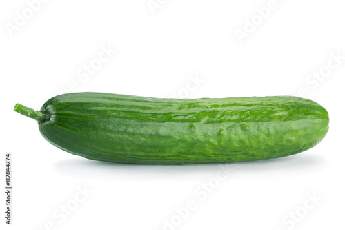 Photo  Long cucumber on white
