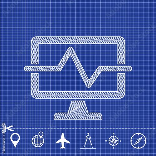 Fotografía  icon medical computing diagnostyc
